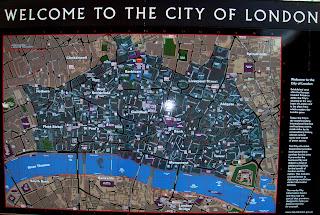 Mapa de la City de Londres