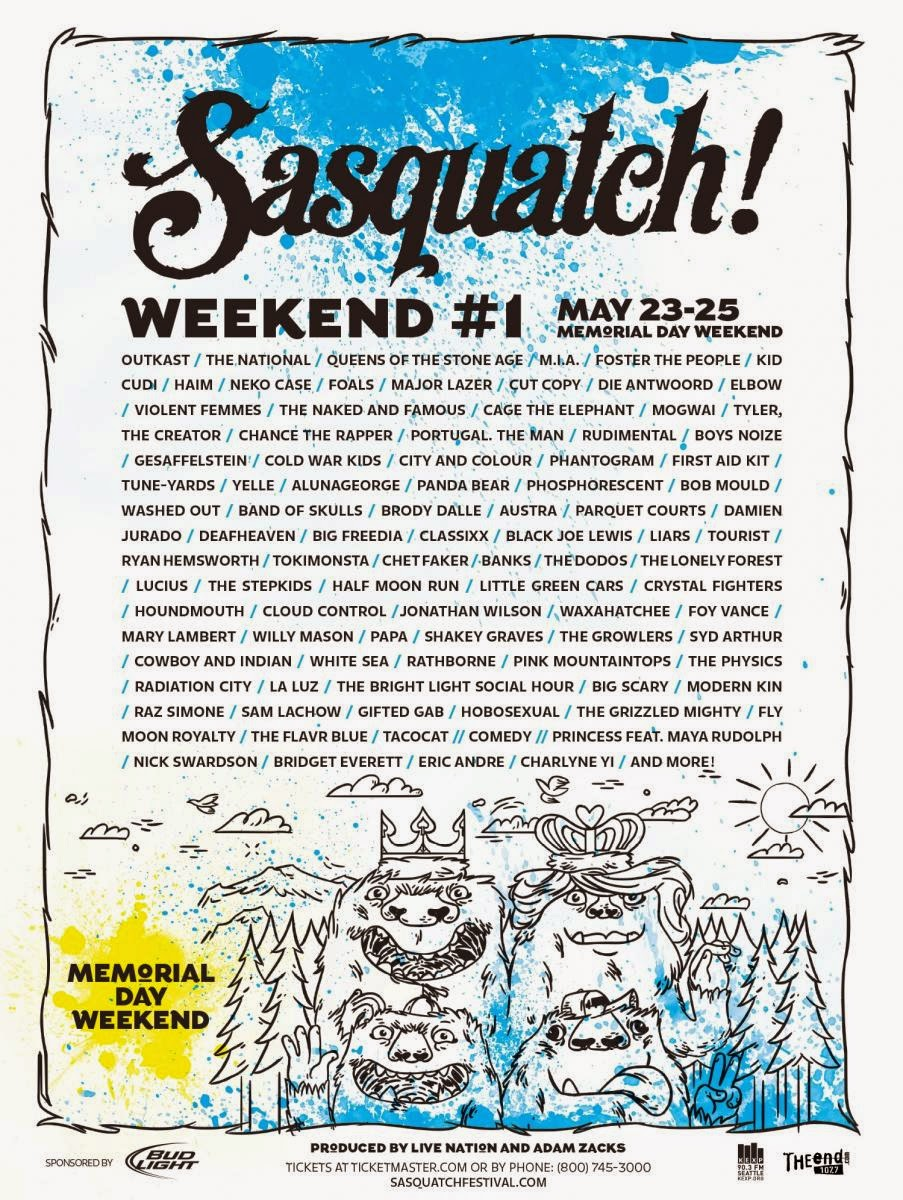 Sasquatch Music Fest 2014