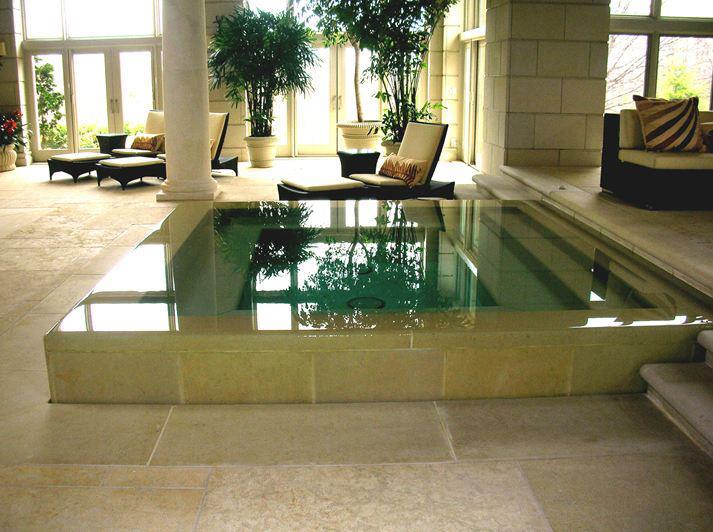 Piscinas en el sal n de casa lucas gunitec for Casas con piscina dentro