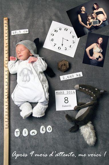 faire part naissance 5 mois