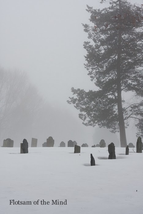 Cemetery in Mist and Snow - Flotsam of the Mind