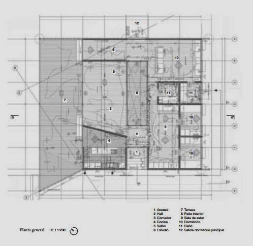 Plano de planta de la Casa de cobre 2