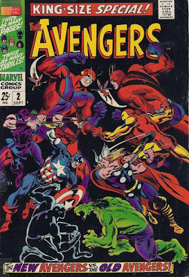 Avengers Annual #2, the new Avengers vs the original Avengers, John Buscema cover