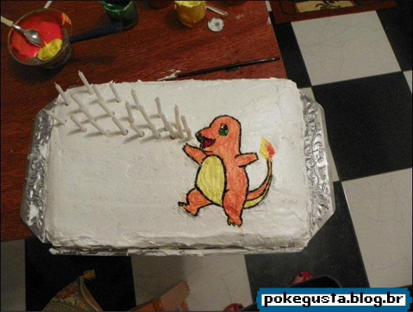 decoração de bolos charmander