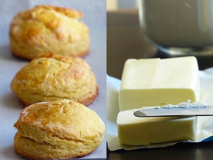 scones butter jam