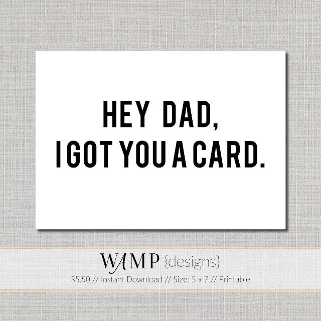 Got You A Card Fathers Day Card