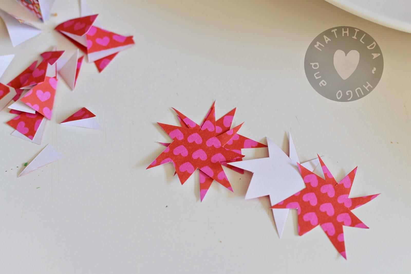 Cake Decoration With Paper : Hugo and Mathilda: Paper cake decoration - children s art