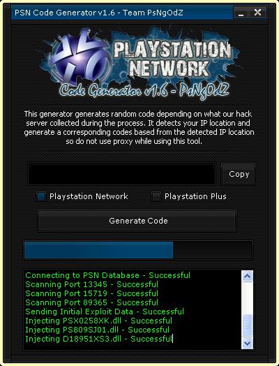 PSN Code Generator by Team PsNgOdZ: Free PSN Codes Generator