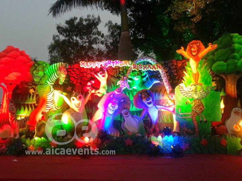 Aicaevents India Madagascar Theme Birthday party