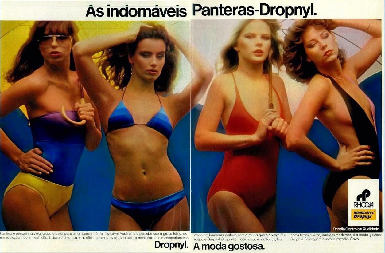 Propaganda de moda dos anos 80 com a Dropnyl.