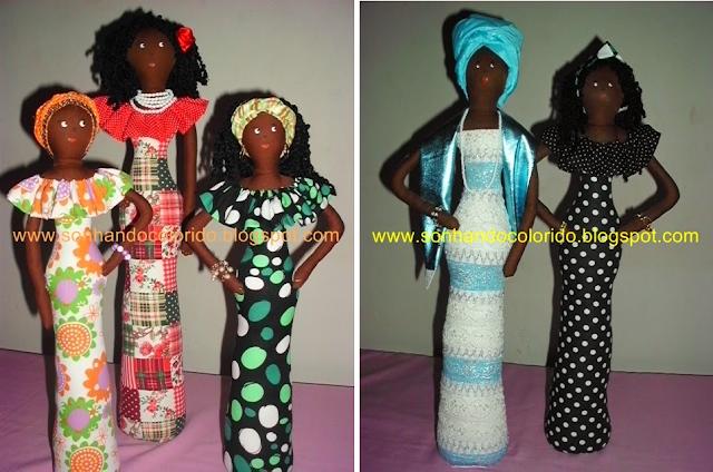 Sonhando Colorido: artesanato, boneca afro, bonecas negras