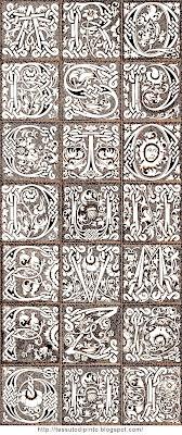 21 maiuscole alfabeto gotico