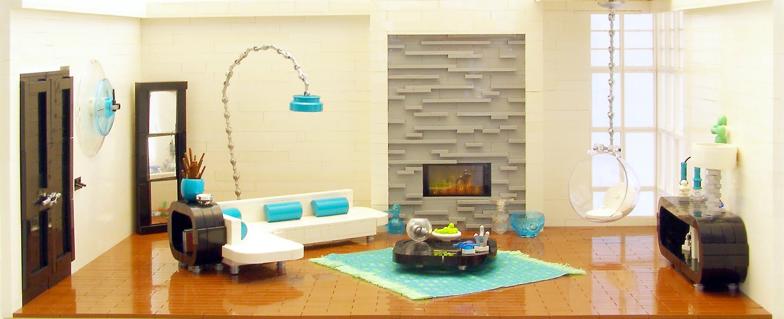 Stuff i like lego interior design retro for Apartment design retro