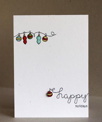 Happy Holidays Card by Alice Wertz for Newton's Nook Designs