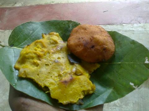 Jil pitha with gud pitha