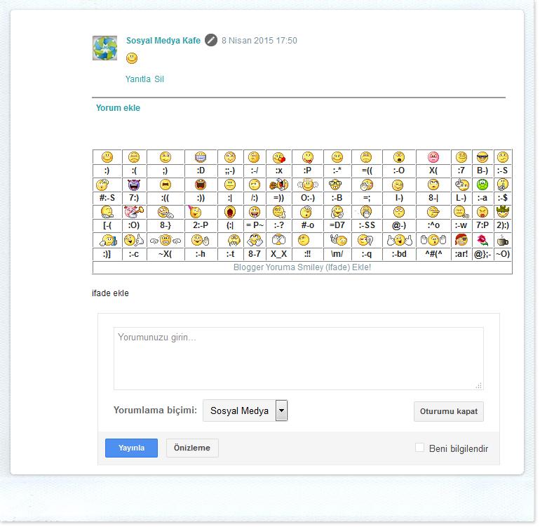 blogger yoruma smiley ifade ekleme - emoji eklentisi