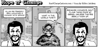 obama, obama jokes, hope n' change, hope and change, stilton jarlsberg, iran, nukes, space monkey