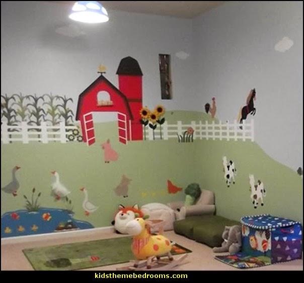 farm theme playroom-farm theme wall stencils