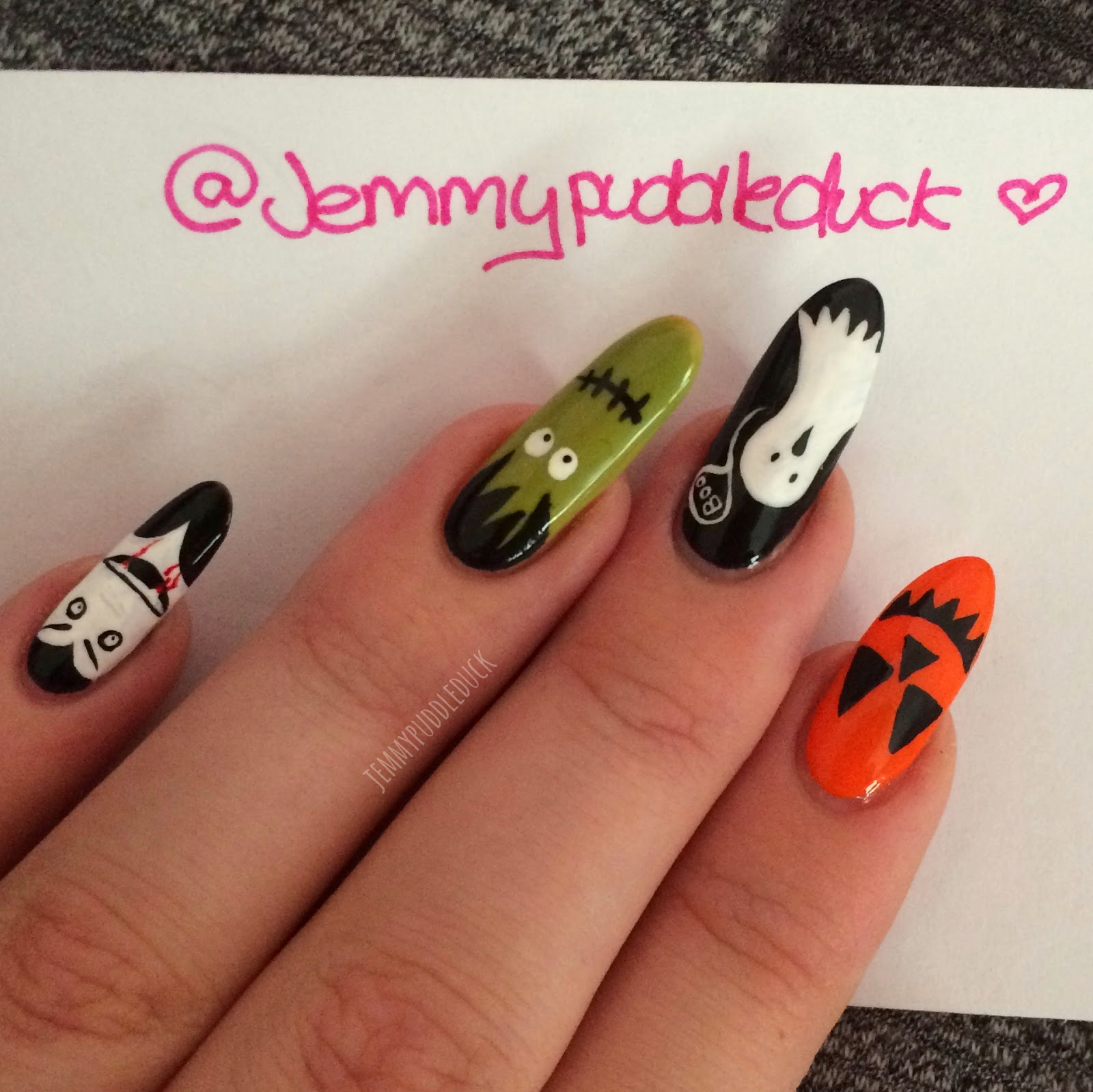 puddleducks nail posts: halloween nails 2014 - take one!