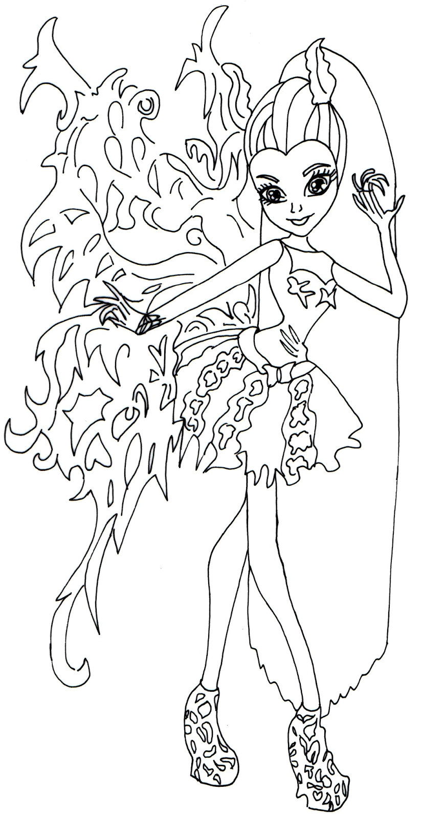 free printable monster high coloring pages bonita femur monster