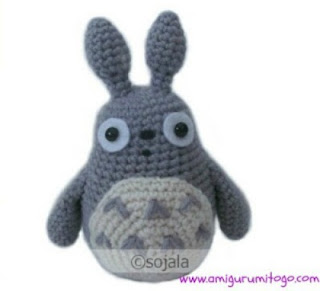 grey crochet totoro