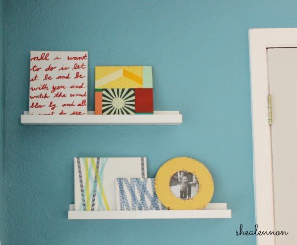 Easy DIY art to dress up your shelves | www.shealennon.com