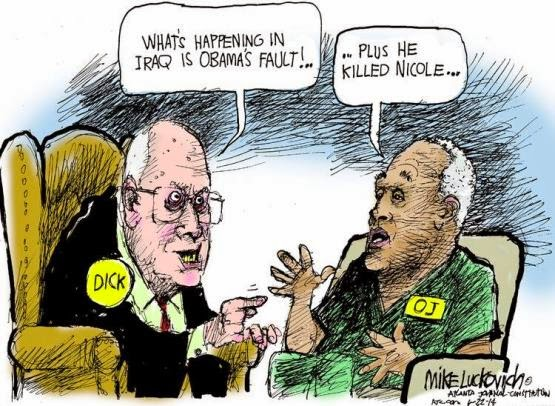 Dick Cheney, Contradictory Attitudes About Cartoons