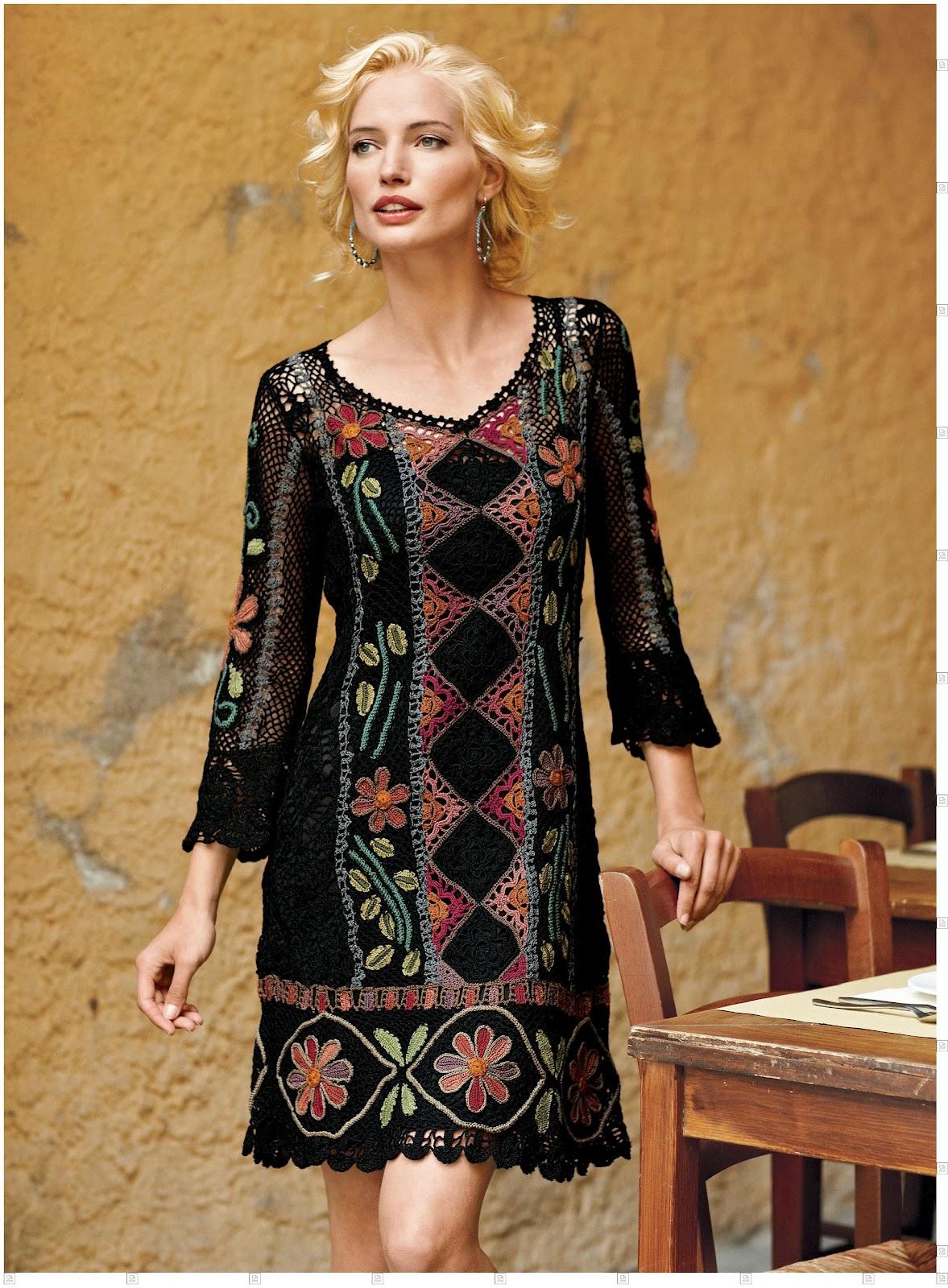 TEJIDOS Y MANUALIDADES DE LA WEB: precioso vestido sacado de ...