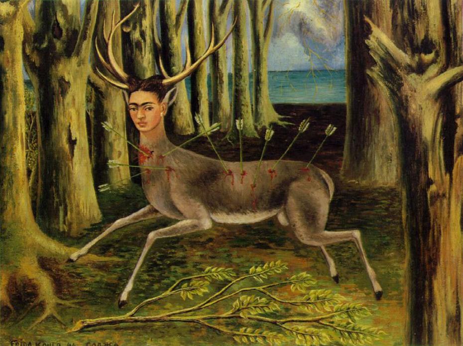 """Frida Kahlo, """"Soy un pobre Venadito"""" (1946) Quien sufre dolores, se compadece más del dolor ajeno."""