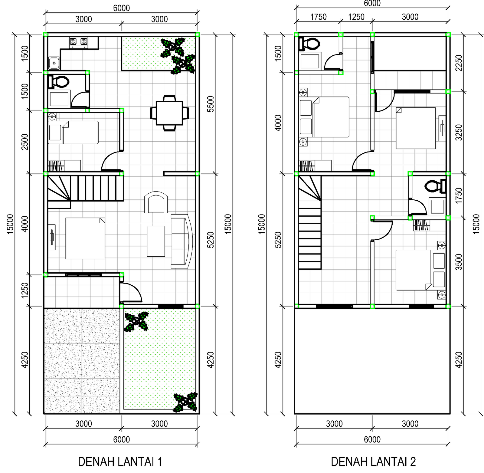 Ragam ide Denah Rumah Sederhana 3 Kamar Tidur 2015 yang indah
