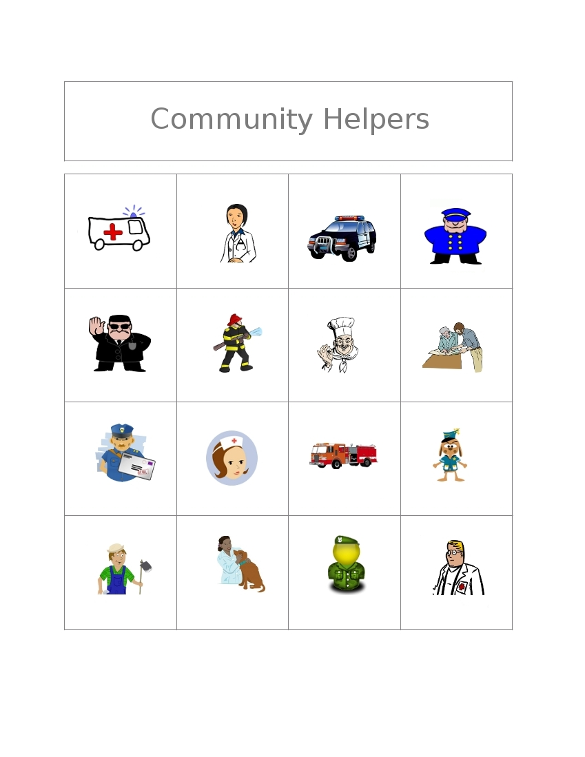 Community Helpers Worksheets For Kids Images & Pictures - Becuo