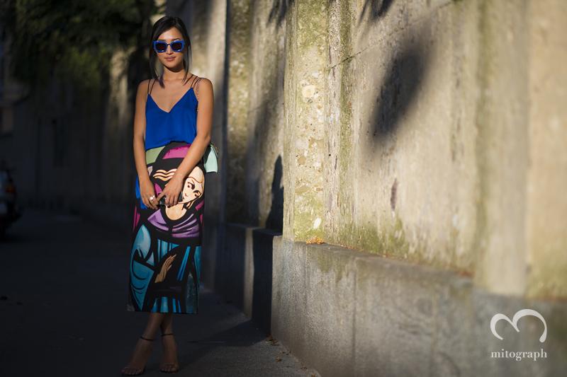 mitograph Nicole Warne After Alberta Ferretti Milan Fashion Week 2014 Spring Summer MFW Street Style Shimpei Mito