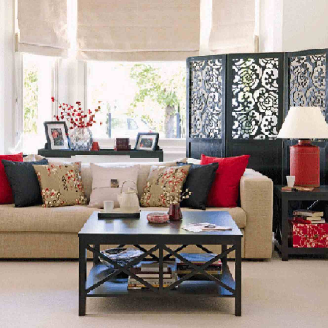 Not for boring decoraci n de estilo asi tico for Tranquil living room ideas