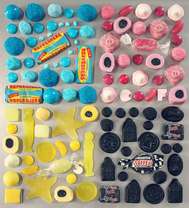 Made by Kate Whiteman, Photo by Kate Whiteman, photography, CMYK, Pick & Mix, Sweets, Candy,
