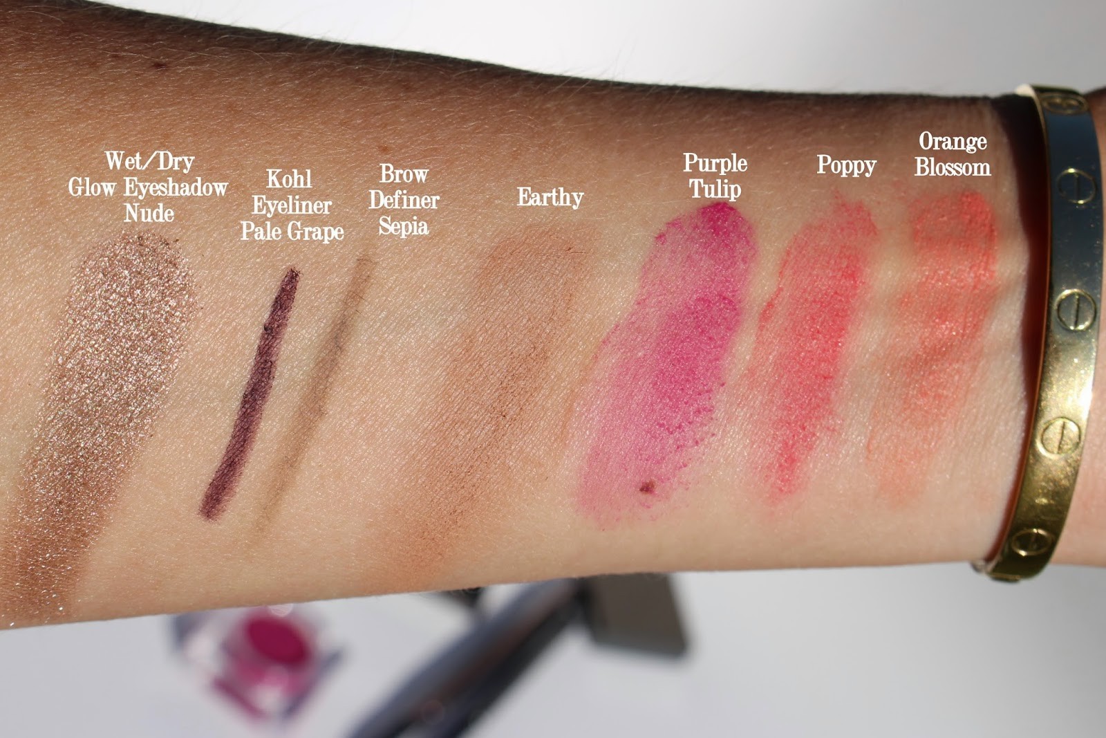 burberry lip and cheek bloom swatches