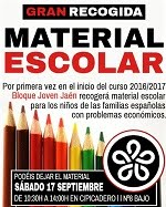 Gran recogida material escolar
