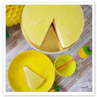 Tarta Mousse De Piña Colada Sin Horno / No-bake Pina Colada Mousse Cake