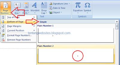cara mengatur posisi nomor halaman di microsoft word