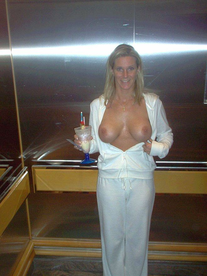 Drunk wife flashing tits