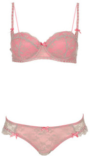 TOPSHOP Lace & Ribbon Slot Set