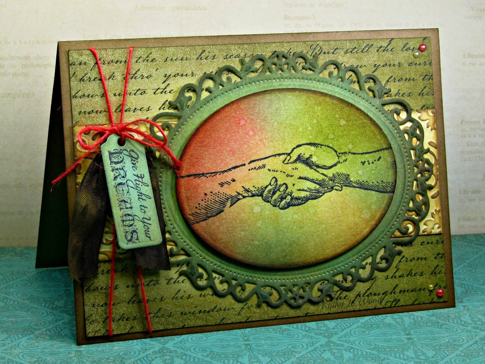 card, distress, floral ovals, ideas, ink, Just Rite, JustRite, ovals, Spellbinders, stain, tags trio, to make,