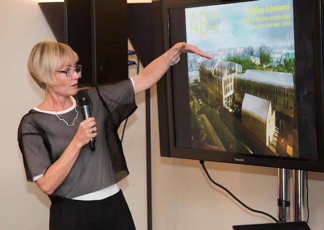 Alison Brooks gives her presentation
