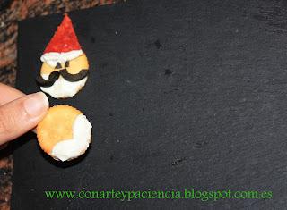 Saladitos de Papá Noel Con Arte y Paciencia