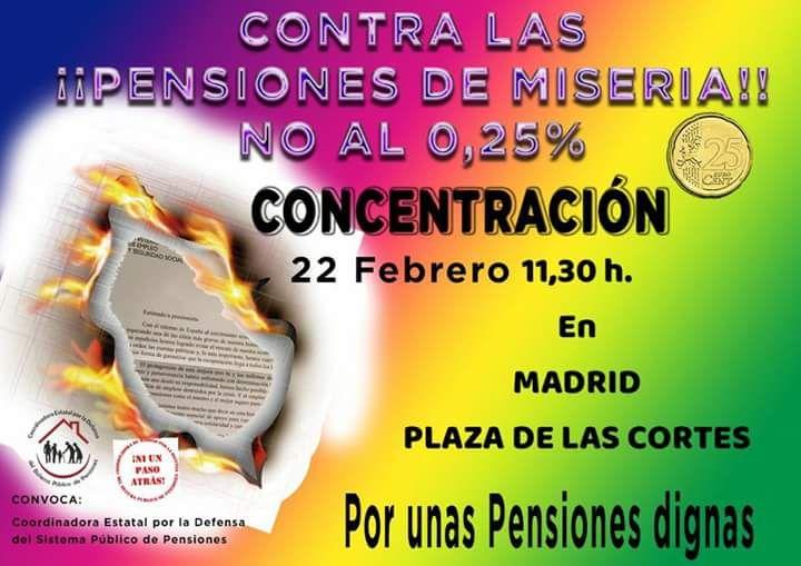 22 febrero Pensiones Dignas y Servicios Públicos de Calidad