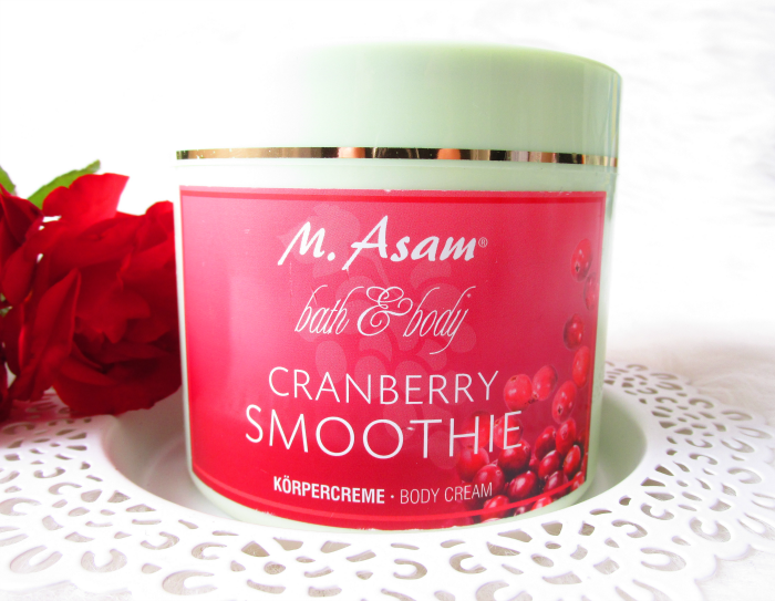 Review: M.Asam Cranberry Smoothie Body Cream / Körpercreme
