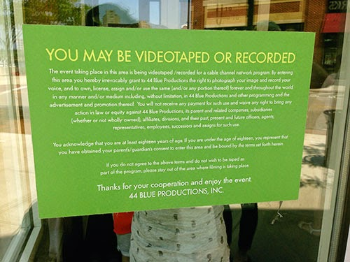 Wahlburgers You May Be Recorded or Videotaped Sign A&E Show