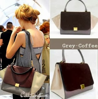 celine medium trapeze grey