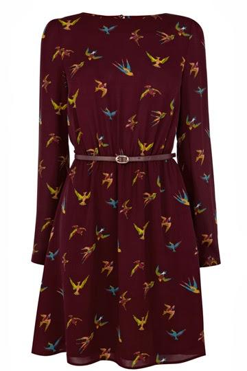 burgundy dress oasis