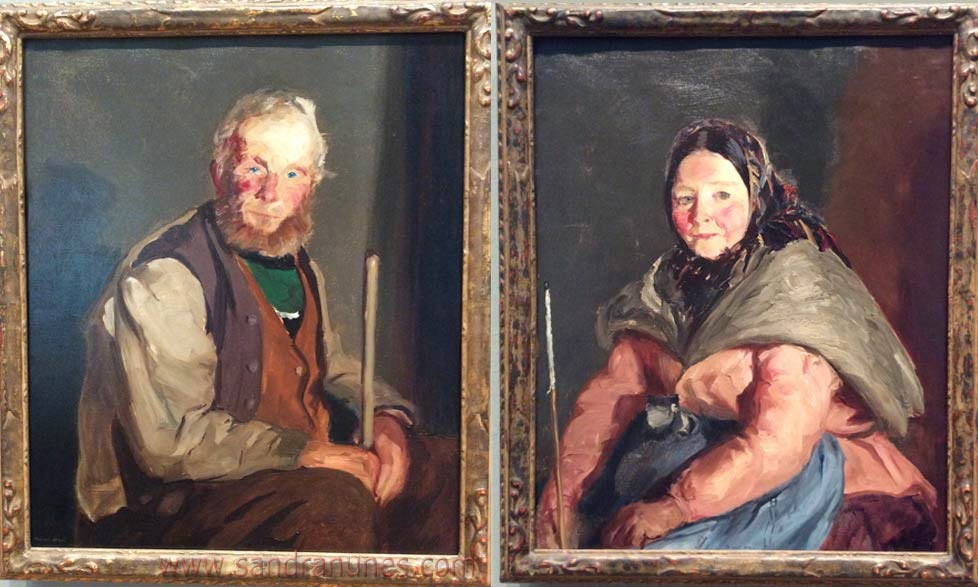 Himself and Herself - oil on canvas