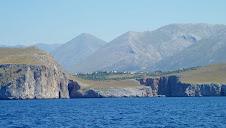 Village maniote vu de la mer